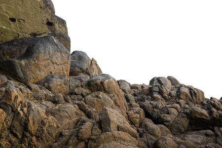 white rock: Big rock on isolated white background