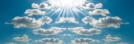 sun sky: Beautiful bright sky blue background.