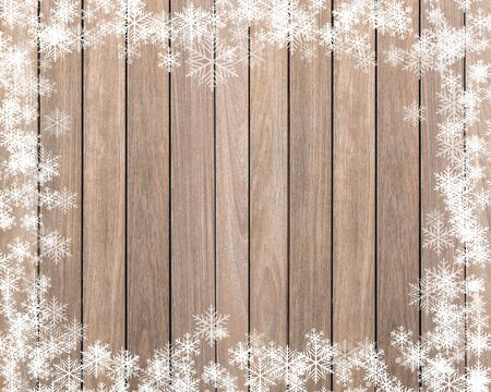 white wood: Christmas background with snowflake on wood texture.