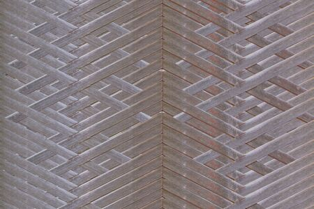 weaved: Wooden fence lattice pattern background.