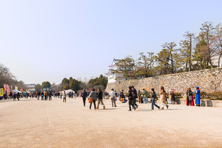 ninja ancient: NAGOYA, JAPAN - FEB 28 : Tourist at Nagoya Castle February 28, 2016. People visit traditional culture of japan at Nagoya Castle in Japan.
