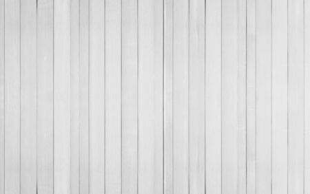 wooden boards: White old wooden wall texture for background. Stock Photo