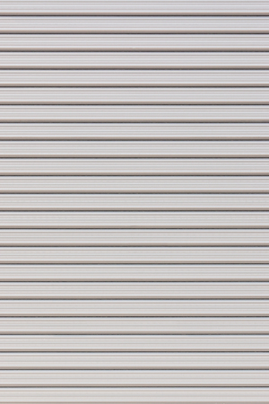 the shutter: White metal roller door shutter background and texture
