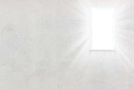 radiate: Empty wall with small windows light radiate