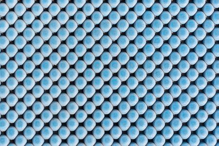 nonslip: close up blue rubber texture for non-slip. pattern background. Stock Photo