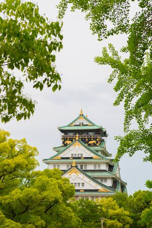 osaka castle: Osaka castle is historic landmark in osaka city japan in summer. Editorial