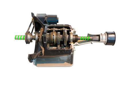 Transmission gears isolated on a white background, Object with clipping path.