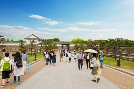 osaka japan may 3 tourist at osaka castle may 3 2016 - Traditional Castle 2016