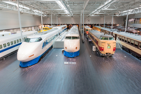 NAGOYA, JAPAN - JULY 10, 2016: The SCMaglev and Railway Park features 39 full-size railway vehicles and one bus exhibit, train cab simulators, and railway model dioramas Editorial