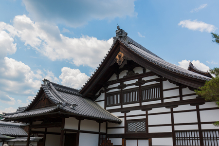 Front of Kinkaku-ji (Temple of the Golden Pavilion) is a Zen Buddhist temple in Kyoto, Japan. Editorial