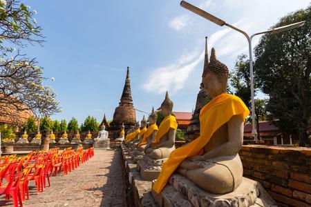 Ayutthaya Historical Park covers the ruins of the old city of Ayutthaya, Wat yai chai mongkon. Phra nakhon si ayutthaya Province, Thailand
