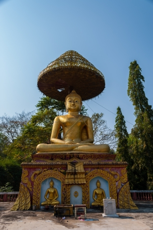 enlightened: Throne that the Buddha sit when he became enlightened in Wat Paa Jareon Tham at Chiangmai, Thailand