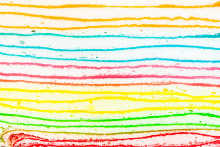 cake background: Sectional of Colorful Crepe Cake, Background Texture.
