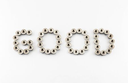 GOOD Word Created by Stainless Steel Hex Flange Nuts. photo