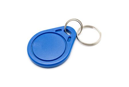 Blue RFID Keychain Tag.
