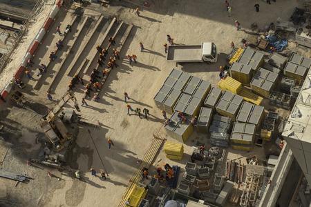 taking a break: Workers taking a break Dubai UAE