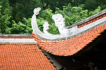 buddhist temple roof: Temple roof Stock Photo