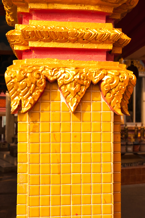 putto: Beautiful plaster cherub detail with gold leaf scallop