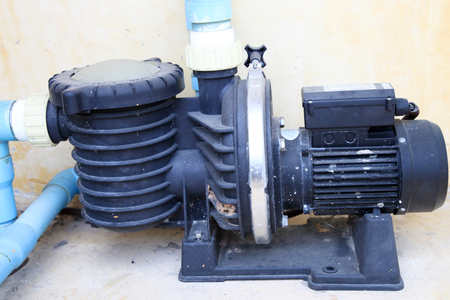 bomba de agua: conjunto de la bomba de agua Foto de archivo