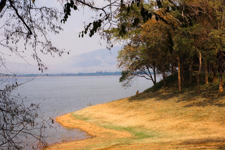 pra: Beautiful Bang Pra Reservoir Chonburi Stock Photo