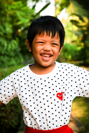 thai boy: happiness Thai boy Stock Photo