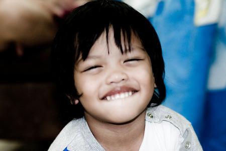 good feel and smiling Thai Boy