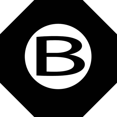 octagon: B octagon Symbol Background