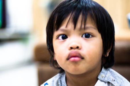 smart asian boy Stock Photo