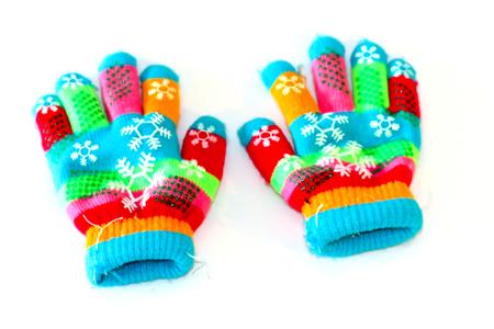 warm colors: colorido guante textura frabic