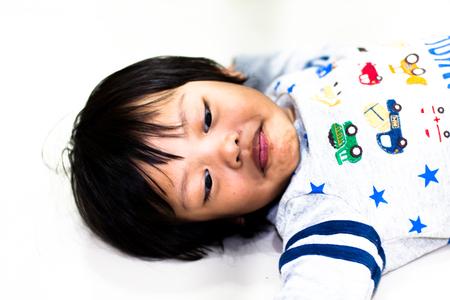 happiness asian boy