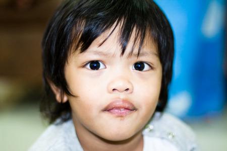 Close up face THAI boy Stock Photo