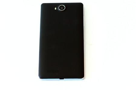 liquid crystal display: Black Smartphones on White Background
