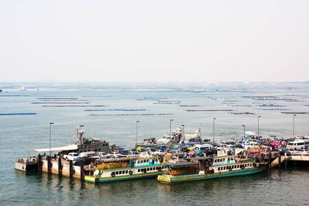 water transportation: business movement building water transportation Koh Loi Chonburi Thailand