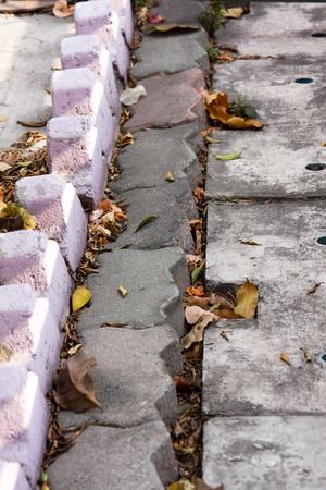 Bloc de trottoir de brique Banque d'images - 44110020