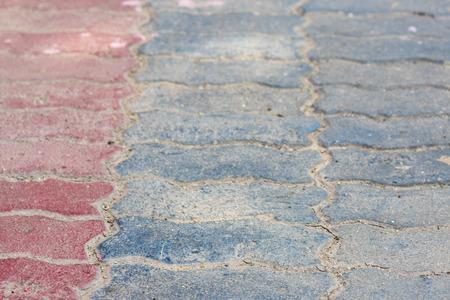 brick block sidewalk