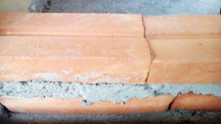 industrail: red brick block building construction