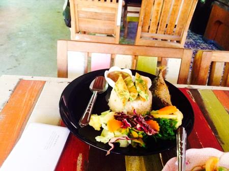 chili sauce: chili sauce fish rice Thai local food set