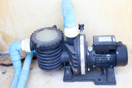 bomba de agua: electric water pump set Foto de archivo