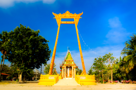 buddhist temple: abstract image color Thailand temple entrance pillar gate Stock Photo