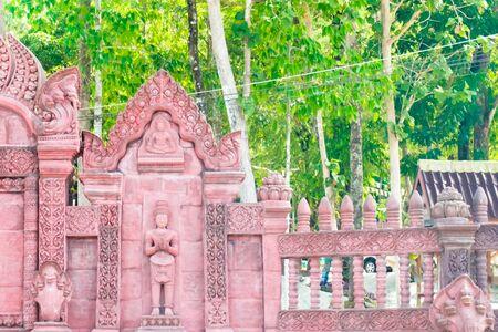 woodcraft: Traditional Thai style church