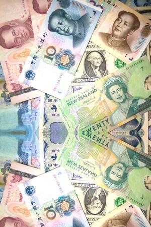 Banconote ricco background di denaro e moneta Archivio Fotografico - 55460624