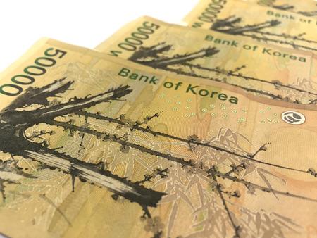 Corea Cinquantamila vinti Banconote Archivio Fotografico - 55460629
