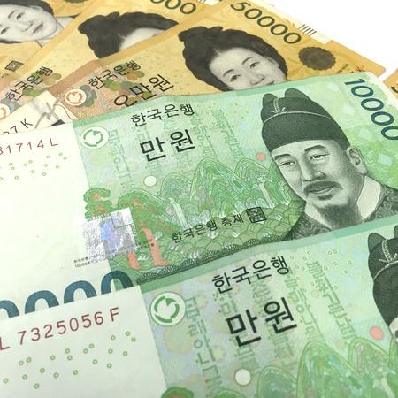 Corea Won Banconote Archivio Fotografico - 55460590