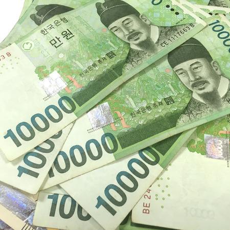 Corea del Ten Thousand vinti Banconote Archivio Fotografico - 55460592