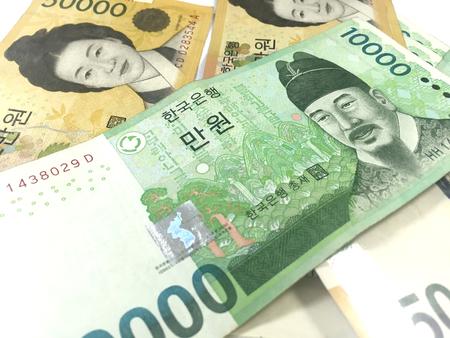 Corea Won Banconote Archivio Fotografico - 55460508