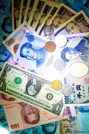 Banconote ricco background di denaro e moneta Archivio Fotografico - 64275319