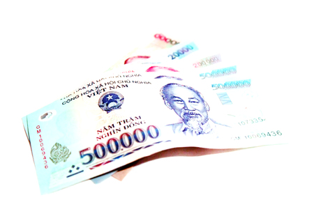 500000 Vietnam Dong Banknote Stock Photo