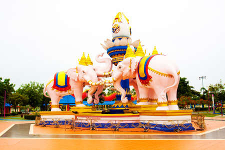 Elephants statue of Thailand,The symbol of Thailand