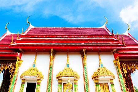 Beautiful Wat Thai golden temple, Photharam Ratchaburi Thailand