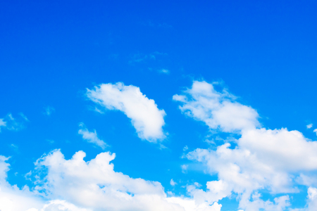 blue sky background with a tiny clouds texture Stock Photo